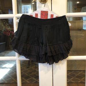 Free People Ruffle Shorts
